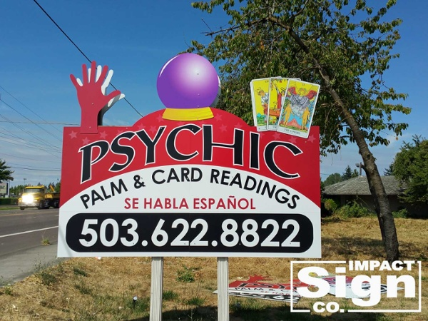Psychic Site Sign