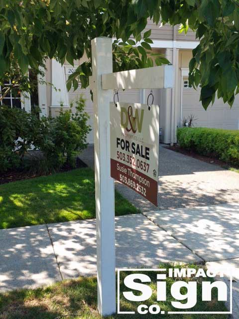 D&W Residential Real Estate Colonial Sign