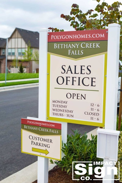 Polygon Sales Office Site Sign