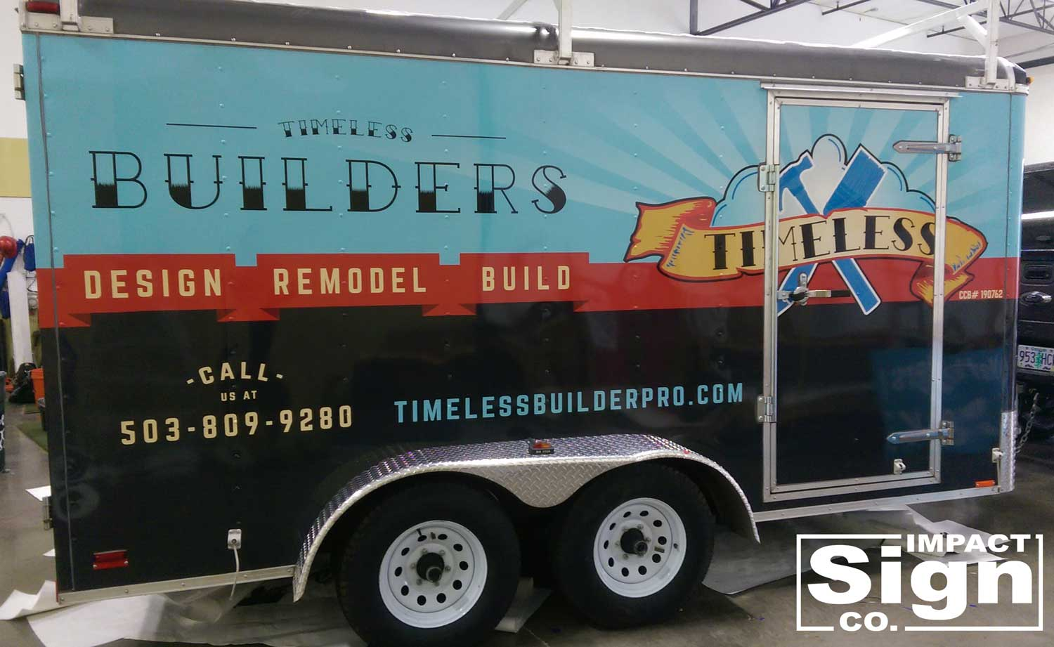 Timeless Construction Trailer Wrap