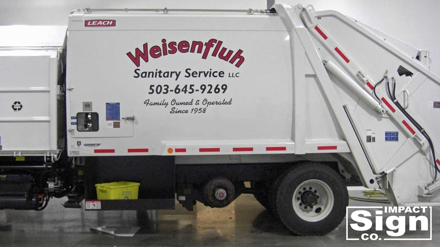 Weisenfluh Sanitary Service Truck Graphics