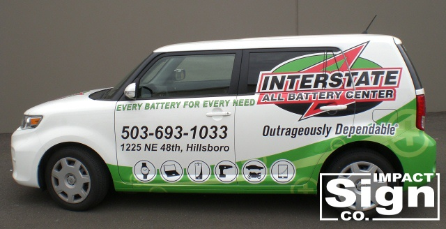 Interstate All Battery Center Scion Partial Wrap & Graphics