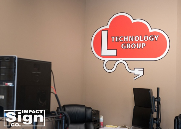L Technology Group Wall Graphic