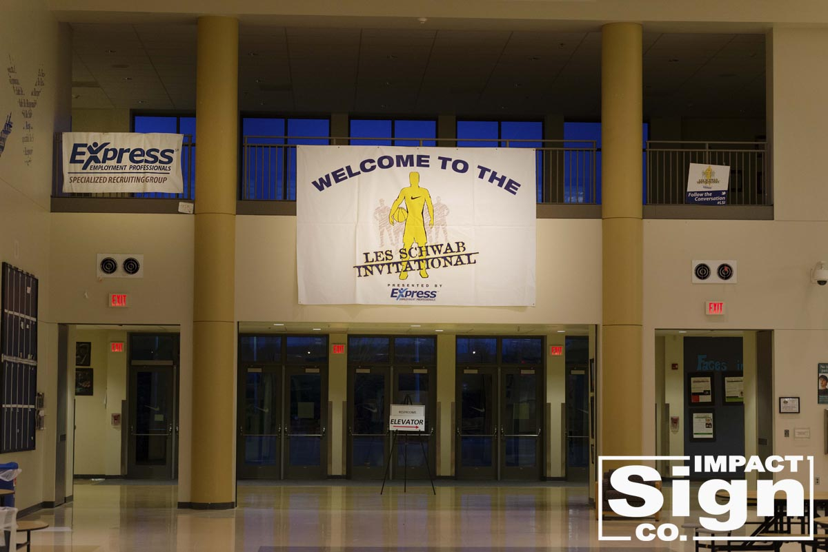 Les Schwab Invitational Entrance Banner