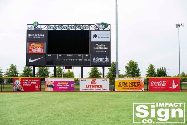 Hillsboro HOPS Outfield Signs
