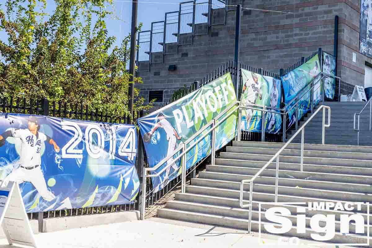 Hillsboro Hops Playoff Banners