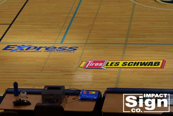 Les Schwab Invitational Floor Decals