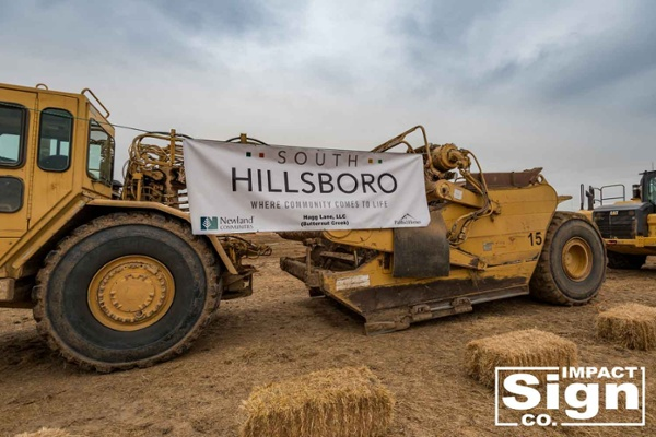 Hillsboro South Development Construction Banner