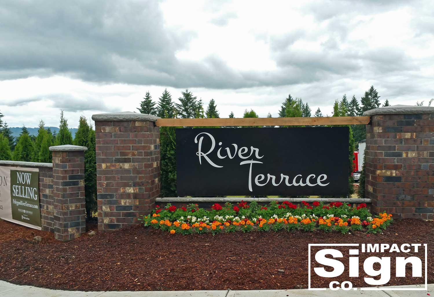 River Terrace Development Monument Sign