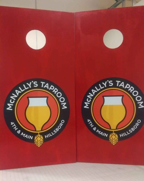 McNally Taproom Corn Hole Decals