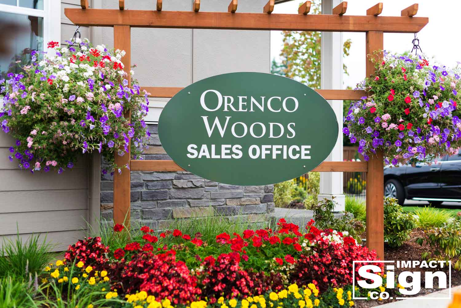 Polygon Sales Office Sign