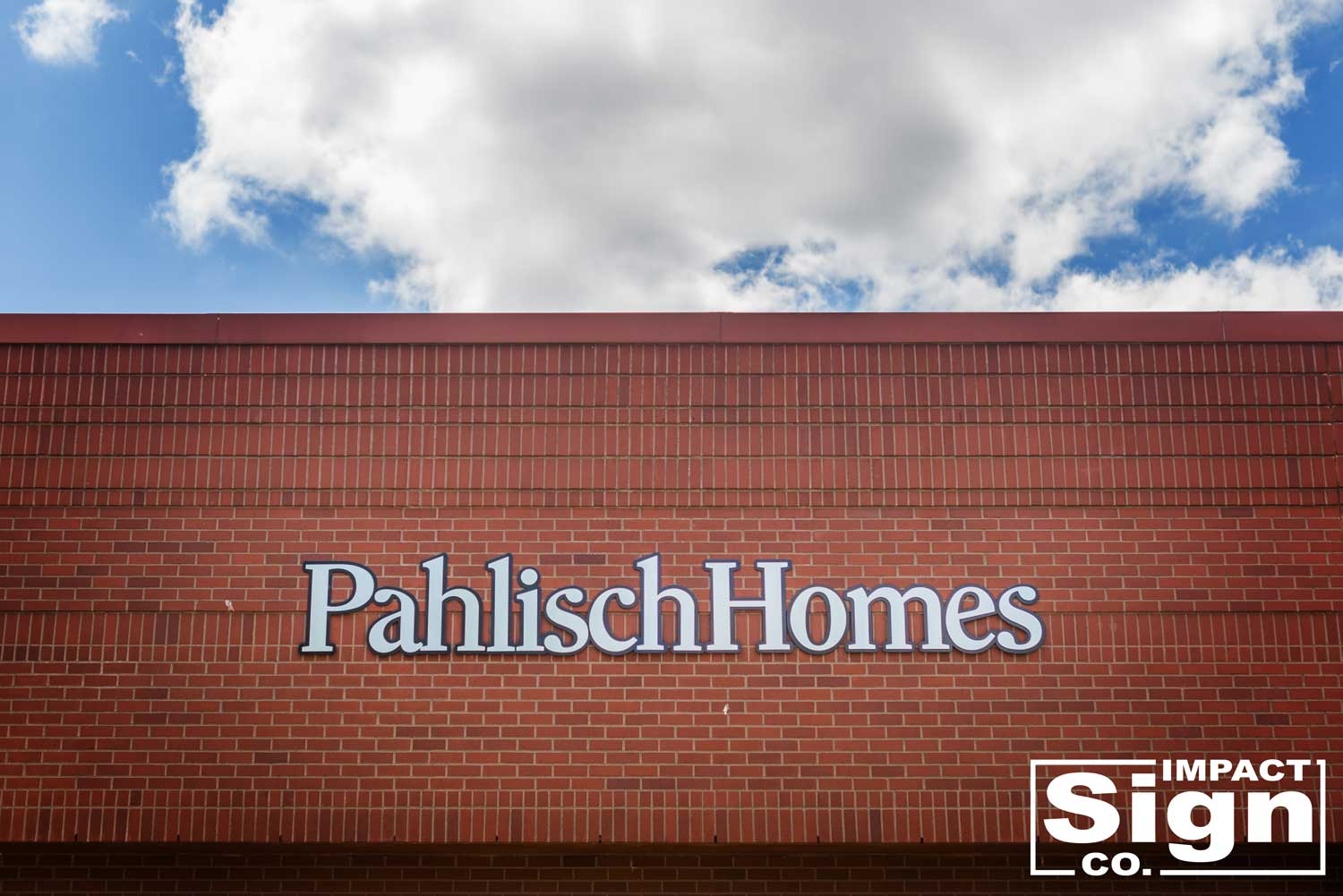 Pahlisch Homes Portland Sales Office Dimensional Letters