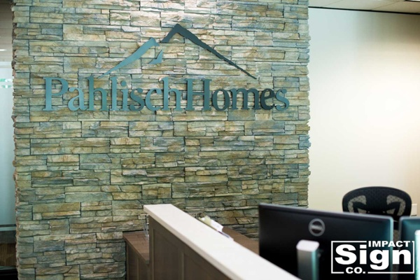 Pahlisch Homes Interior Dimensional Logo