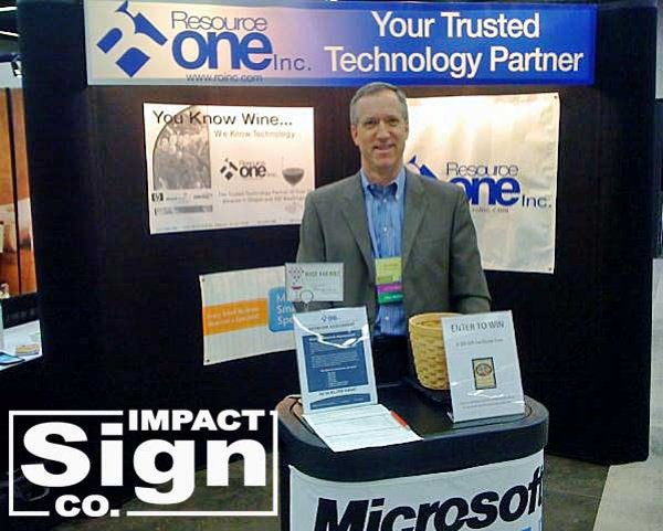 Resource One Trade Show Booth Graphics