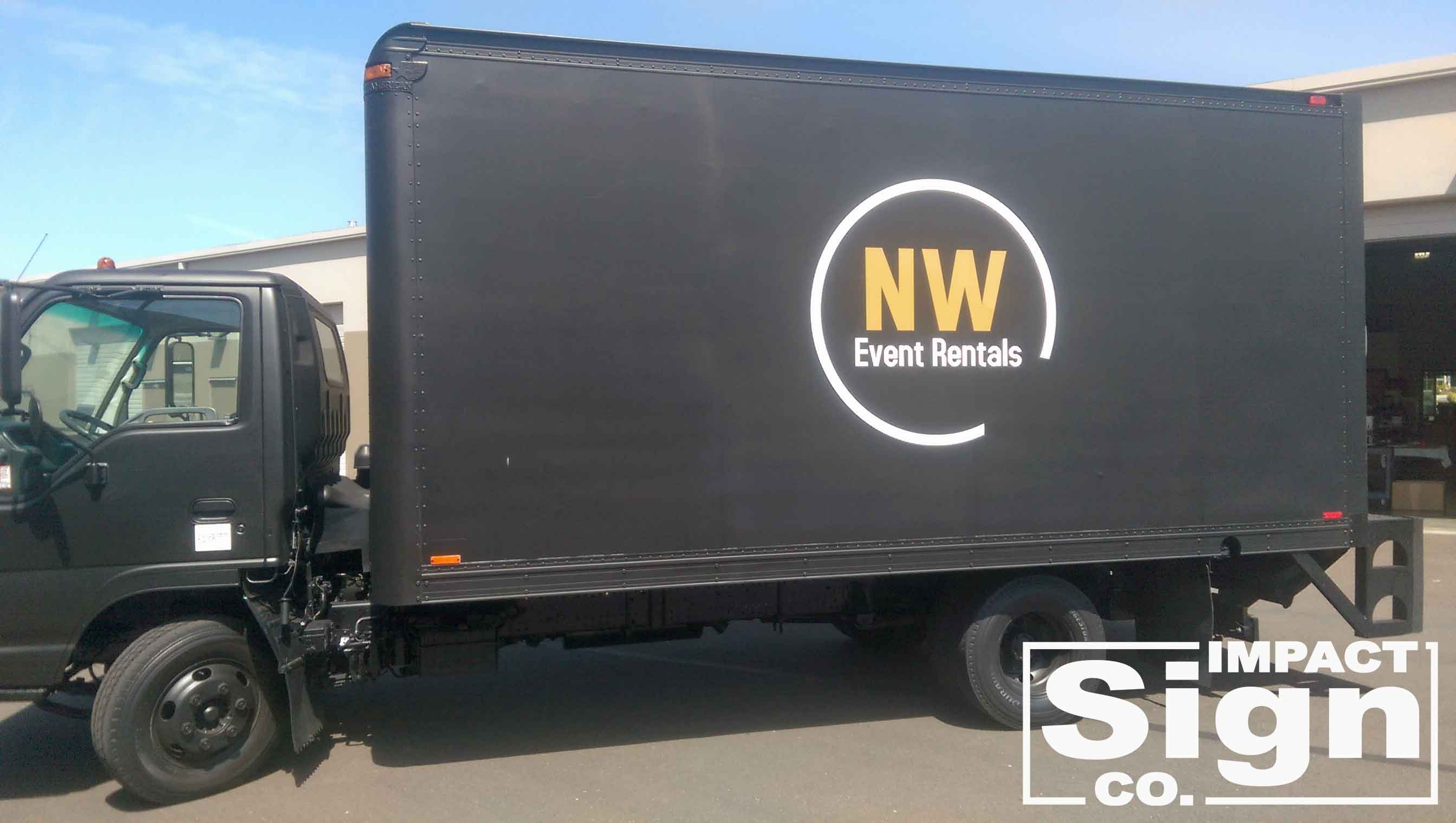 NW Events Delivery Truck Graphics