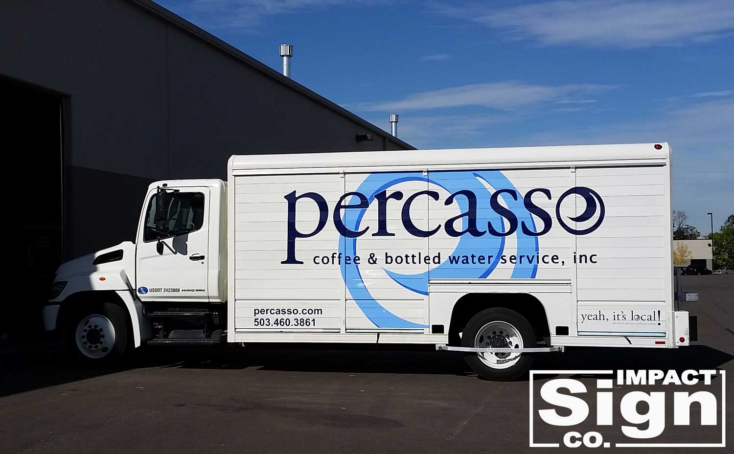 Percasso Water Truck Graphics