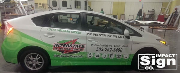 Interstate All Battery Center Partial Vehicle Wrap