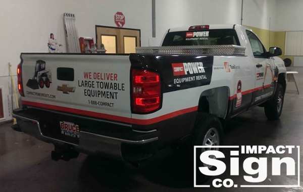 Compact Power Rents Truck Graphics