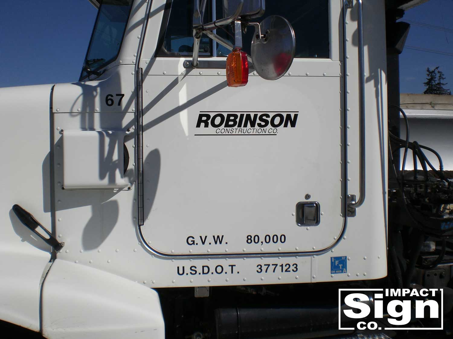 Robinson Construction Truck Decals