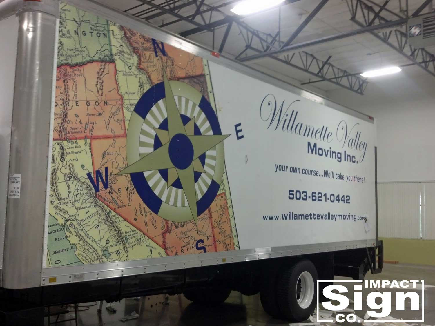 Willamette Valley Moving Truck Graphics