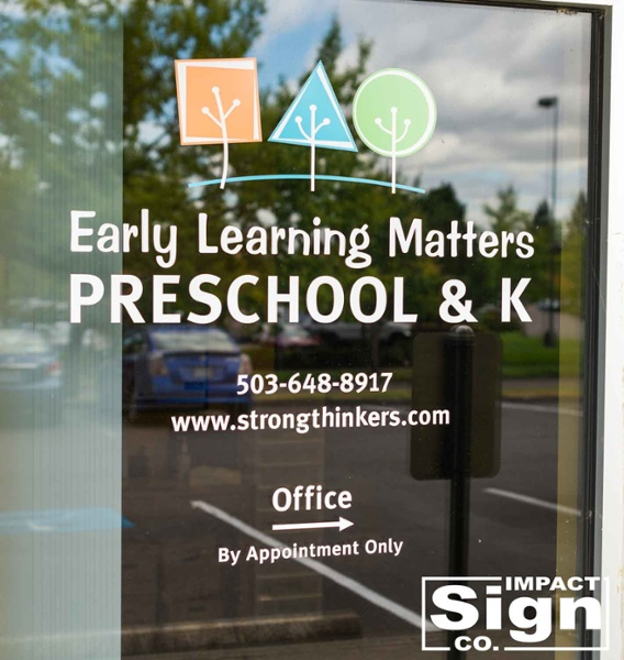 Early Learning Matters Door Graphics