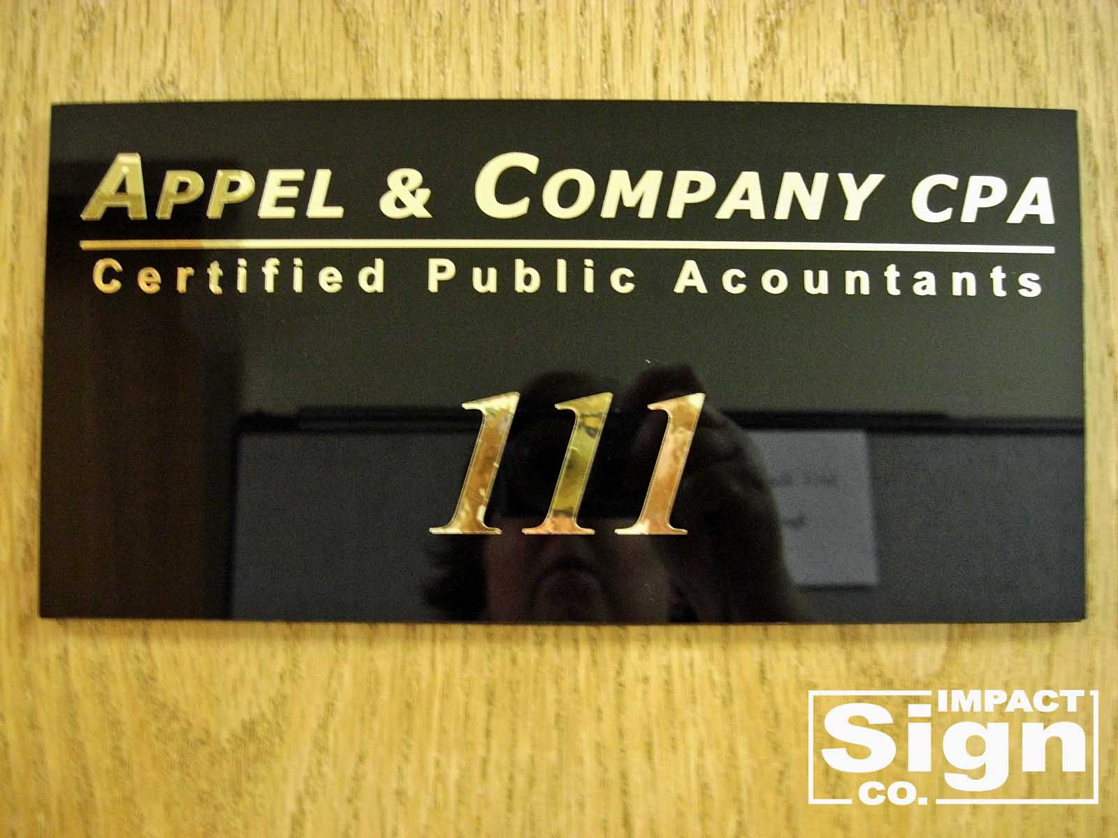 Appel & Company Suite Sign